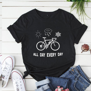 Cotton Frauen-Sommer-T-Shirts in über kurze Hülsen-Fahrrad-Grafik-T-T-Shirt Harajuku Grund Tops Damen lösen Frau Kleidung