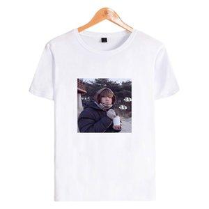 T-shirt da fêmea do verão Idol Roupa Plus Size T-shirt V Anime Meninos retrato Moda Fãs Mulheres curto