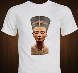Queen Nefertiti - Ancient Egypt - Berlin Bust statue Egyptian art T-shirt Cartoon t shirt men Unisex New Fashion tshirt