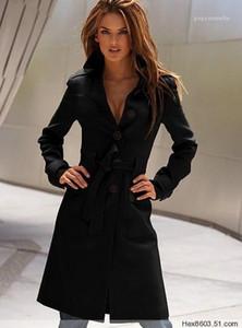Mezclas de lana de invierno diseñador single brovenido Slim Fit Abrigos largos mujeres lana larga