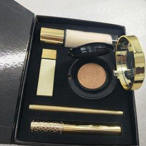 marchio trucco set lip gloss eyeliner mascara perfetto scatola del kit regalo liquido trucco 5in1 fondazione idratante cuscino d'aria.
