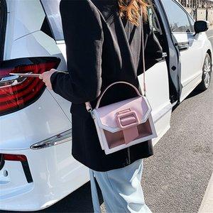 Transparent Jelly Bag For Women 2020 New Fashion Shoulder Messenger Bag Women Joker Square