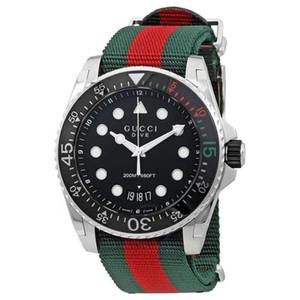 44mm Art und Weise Luxus große Wählscheibe Marken-Männer Freizeitsport-Uhr-Art und die hohe Qualitätsnylonband Kalender Marke Quarzuhr