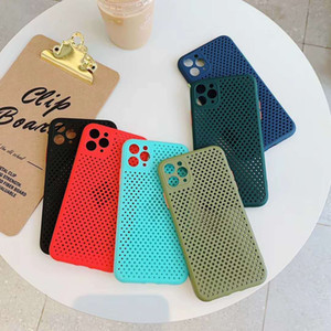 Hollow Out Grid Case For iPhone 11 Pro XS Max XR Soft Heat Dissipation Breathable Cover For iPhone 7 8 Plus Case