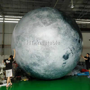 Free Shipping Hot Sale 3m Party Inflatable Glow in The Dark Moon Balloon inflatable LED Lighting Planet Moon for Sale