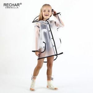 Водонепроницаемый Eva Rain Coat Boy Дети плащ девушки ветрозащитный Пончо Детский сад Дети Детские дождевики непромокаемый плащ Impermeble Cape rRiGK