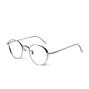Marco suave de los ojos Gafas de la vendimia metal redondo libertad capítulo óptico de la lente de la lente clara Prescriptio oculos feminino de Grau