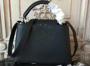 Realfine888 5A верхнего качества M94586 27см Capucines BB Taurillon Кожа Totes сумки, придите с пылесборника, свободная перевозка груза