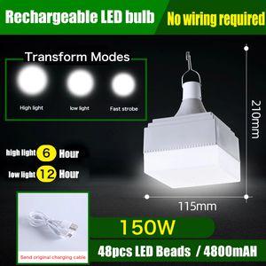 LED USB rechargeable Ampoule Camping lumière pour extérieur Lampe Camping 3 Modèle lanternes portable Feux d'urgence pour barbecue randonnée Sports de plein air