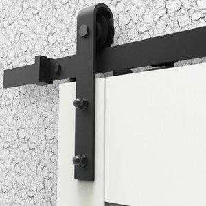 5FT / و 6ft / 6.6ft / 8FT الإنتهاء ينة العتيقة الأسود انزلاق الأبواب الخشبية الشونة الأجهزة خزانة المسار كيت