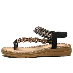2020 summer large size thick bottom sandals ladies non-slip comfortable seaside beach women sandals size 36-41