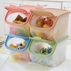 PP Practical Environmental Collecting Tank Food Storage Barrel Kitchen Sealed Box Dessert Rice Container Organizer Cereal Bean