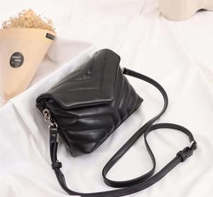 designer- bolsas de cuero genuino de las mujeres del hombro Lou Lou cruz diseñador del cuerpo del bolso del bolso del monedero de piel de oveja
