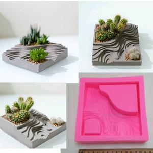 Sulu Çiçek Dikim Kalıp Teraslanmış Alan Desen Şekli Beton Kil Craft Graden Dekor Çimento Silikon Kalıplar Bitkiler
