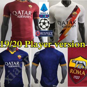 Player, Version 2019 2020 AS Roma Fußball-Trikots Nainggolan DZEKO PEROTTI DE ROSSI EL Shaarawy PASTORE ROME Home Away Third-Fußball-Hemd