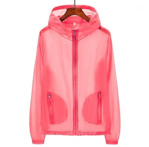Pockets Anti UV Sun Protection Jacket Plus Size Sun Protection Clothing Summer Womens Designer Casual Coats Solid Color Hooded Zipper