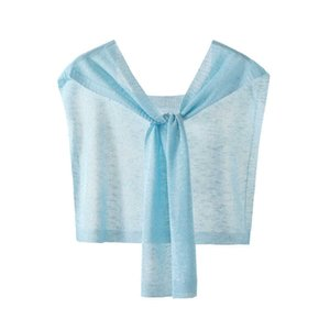 Ice Silk Knitted Outer Sunscreen Small Shawl Womens Short Summer Thin Knotted Shoulder Neck Cape Cape Scarf