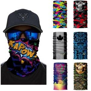 Pop Headbands Neck Warmer Ciclismo Esquiar Bandanas Bandeira Nacional camuflagem Crânio Rosto Scarf Máscaras de pesca Hip