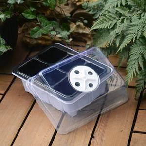 Durable 12 hoyos Semillas de plantas macetas Grow Box Bandeja Propagación Siembra Caso Tiesto Plug Planta Bandejas