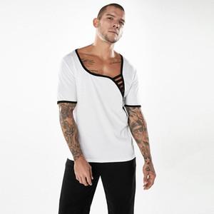 Tshirts Doğal Renk Moda Tshirts Kısa Kollu Casual Scoop Boyun Tshirts Erkek Giyim Geometrik Baskı Tasarımcı Erkek