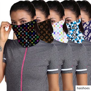 Luxury Designer Half Face Mask Anti Dust Scarf Women Cycling Bandanas Quick-dry Masks Headband Sports Head Scarves Washable Face Mask Gifts