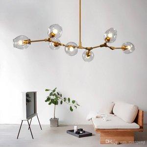 Araña de rama de árbol nórdico Iluminación para sala de estar Dormitorio Cocina luz molecular Loft Vintage Lustre industrial cocina