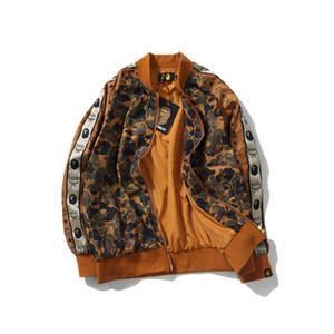 Осень зима новых людей прибытия вскользь Desert Camo Baseball Jacket Подросток Спорт Camo Hip Hop Baseball Jacket