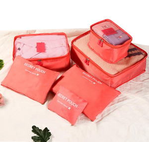 Travel makeup bag Home Luggage Storage Clothes Storage Organizer Portable Cosmetic Bags Bra Underwear Pouch Storage Bags 6pcs Set DHL