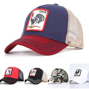 جديد الموضة والحيوانات قبعة بيسبول الرجال قبعات النساء سنببك كاب قابل للتعديل قبعات حيوانات المزرعة الديك نقار الخشب الأسد النساء