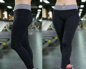 2020 Preto Grey Splice Imprimir cintura alta Leggings Esporte aptidão das mulheres apertado Calças Atlético Push Up trabalhar fora Yoga Pants Atacado