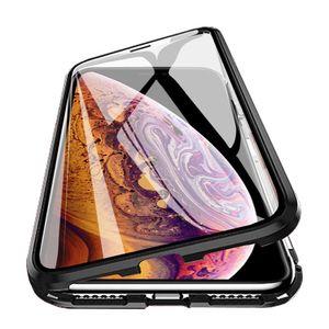 Magnetischer Fall für Iphone X XS MAX 7 8 Plus Coque Metall Telefon Fundas Abdeckung Double Side Ausgeglichenes Glas 360 ° Vollschutz Carcasa