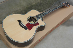 Original Body Solid Top Acoustic Guitar with Colorful Shell Edge,Rosewood Fretboard,Golden Tuners,Can be customized