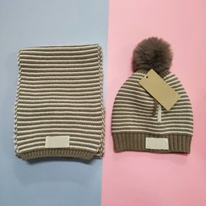 Brand promotion 2019 new fashion children's hat + scarf high quality stripe wool scarf wholesale and retail UG01