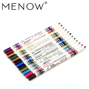 MENOW 12PCS PACK 2 in 1 Eyeliner 12 Colors Lip Pencil Long-lasting Waterproof Makeup Cosmetic Set Eye Liner Eye Shadow Pen