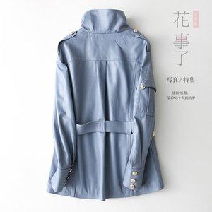 100% Genuine Leather Jacket Women Montone Jacket Real Sheepskin Coat Female Winter Autumn Slim Long Outwear Clothes 3493