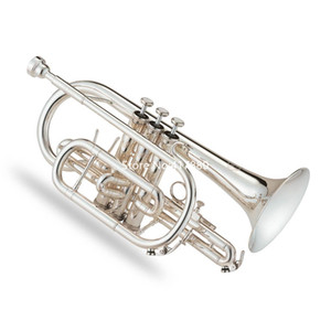 Professional Jupiter JCR-520S Bb Cornet Sliver Plated Musical instrument high quality with Case Gloves Free Shipping