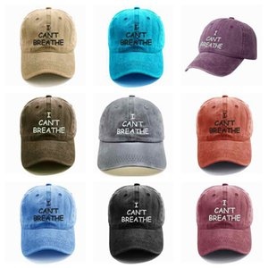 Outdoor Sports Baseball Cap I Can Breathe Brief Printing gestickte Baseballmütze Sommer Snapbacks justierbarer Hut ZZA2263 30Pcs nicht
