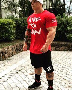 Мужские футболки моды футболка мужские топы летние фитнес бодибилдинг одежда мышц мужские рубашки хлопчатобумажные тонкие тройники