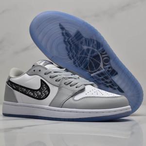 Cesta Dior Air Oblique AJ1 B23 B24  Jordan 1 Kanye West Oblique Slipper High Top Sports Baixa KAWS Kim Jones Hommes Femme Basketball Sneakers Mulheres sapatos masculinos