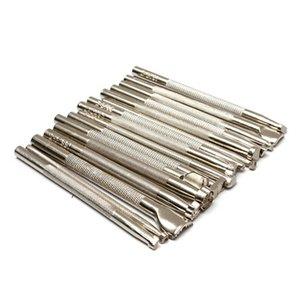 Yüksek Kalite 16pcs Metal Deri Araçlar DIY Deri Çalışma Eyer Deri Craft Pullar Seti Craft T200620 Oyma Set Araçlar yapma