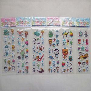 100 листов Cartoon модели Октонавты тавра малышей игрушки мультфильм 3D наклейки для детей девочек мальчиков ПВХ наклейки пузыря наклейки