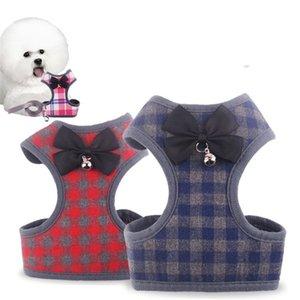 Imbracature per gilet Corda per trazione Pet Dog Petto posteriore Guinzagli Accessori per gatti traspiranti Corde per traino Moda con stile diverso 8bg J1