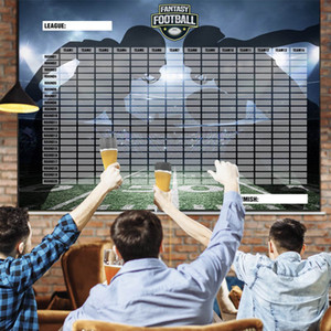2020-21 Large Fantasy Football Draft Board and Player Label Kit The Largest Draft Day Board (5,7 x 4 ft) and Over 470 Player Labels