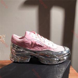 2019 hococal erkek boy Sneaker, Gümüş sıvı tasarım sneaker dip etkisi taban spor Eğitmeni renkli