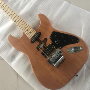 Spedizione gratuitaInstock Pumpkin SR-LST-017 Eddie Van Halen Franken Infinished Chitarra elettrica, kit per chitarra, body a cenere chitarra elettrica fai da te