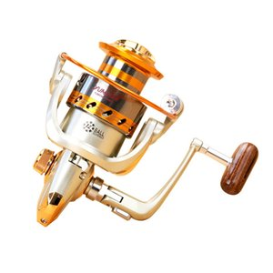 سرعة نسبة 5.2: 1 المعادن غزل الصيد بكرة EF1000-6000 غزل الصيد بكرات المحيط البحر قارب الثلج معالجة الألومنيوم الصيد 12 الكرة K906