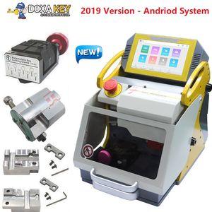 4 abrazaderas SEC-E9 Máquina automática de fabricación de llaves de automóviles Máquina de corte de llaves láser para la venta 2019 Nueva duplicadora de llaves