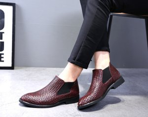New Mens Fashion Party Shoes Slip On Comfort Geniune Leather round-toe Formal Dress Shoes 3 colour