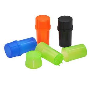 Barato 40 mm mini Plástico Especias de tabaco Grinder Trituradora hierba Amoladora Trituradora de tabaco para fumar Conjuntos Color al azar Envío gratis