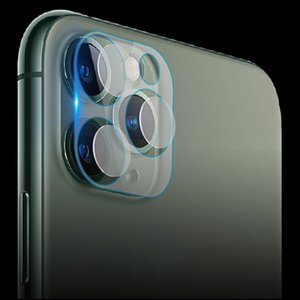 Metal Frame + Tempered Glass Back Full Cover Camera Lens Ring For iPhone 11 Pro Max Screen Protector Rear Protection Ring Case